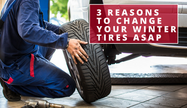 3 Reasons to Change Your Winter Tires for Summers Now